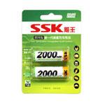 SSK飚王即用型AA2000MAH×2新一代镍氢充电电池 电池/SSK飚王