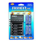 瑞能RM4-803-2500标准充(配4支2500mAh 5号镍氢电池) 电池/瑞能