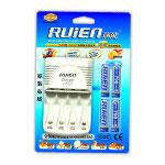 瑞能RN-M4A标准充套装(配4节700mAh 7号镍氢电池) 电池/瑞能