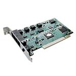 科镁PCI 4路 电话录音卡 四路 电话录音系统 电话语音录音系统 T04 电话录音设备/科镁