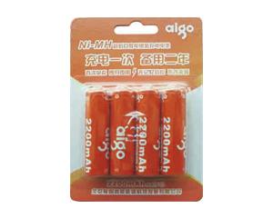 爱国者镍氢充电电池5号4粒装(2200mAh)图片