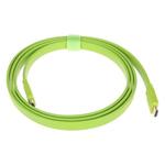 山泽五彩扁平HDMI线 草绿 2米 转接数据线/山泽