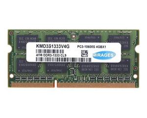 幻影金条4GB DDR3 1333 笔记本内存(KMD3S1333V4G)图片