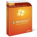 微软 Windows 7 家庭包(含3用户授权) 操作系统/微软