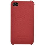 迪思拜尔iPhone 4/4S 简约波点背壳皮套(中国红) 苹果配件/迪思拜尔