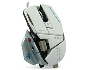 赛钛客Cyborg R.A.T.7雪妖版双眼激光游戏鼠标