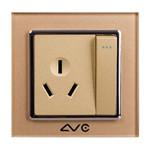 LVC 一位大跷板开关带16A三孔插座LVC6713AY 电源设备/LVC