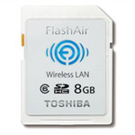 东芝FlashAir Wi-Fi SDHC卡(4GB)/(SD-R008GR7W6) 闪存卡/东芝
