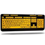 艾迪索ADESSO AKB-132UY大字母黄色按键多媒体键盘 键盘/艾迪索ADESSO