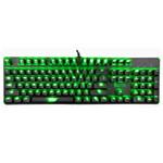 精灵雷神之锤104键绿光版机械键盘 键盘/精灵