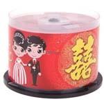 纽曼婚庆系列DVD+R 16速 4.7G(50片桶装) 盘片/纽曼