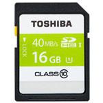 东芝超高速SDHC存储卡 16GB Class10-40MB/s(SD-K016GR7AR040ACH) 闪存卡/东芝