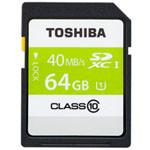 东芝超高速SDXC存储卡 64GB Class10-40MB/s(SD-K064GR7AR040ACH) 闪存卡/东芝