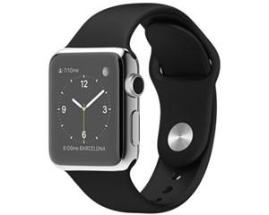 苹果watch(38mm不锈钢表壳搭配白色/黑色运动型表带)