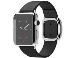 苹果watch(38mm不锈钢表壳搭配黑色/深蓝色/浅粉色/棕色现代风扣式表带)