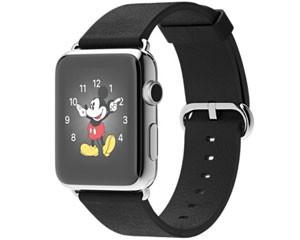 苹果 watch(42mm不锈钢表壳搭配黑色经典扣式表带)