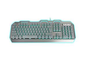 新盟曼巴狂蛇K610三色背光游戏键盘