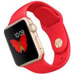 苹果watch Sport(38mm金色铝金属表壳搭配红色运动型表带) 智能手表/苹果
