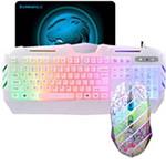 虎猫有线游戏键盘鼠标套装(白鼠+炫光550) 键鼠套装/虎猫