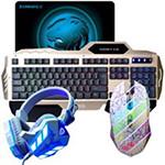 虎猫键盘鼠标套装(白鼠+义宏K101键盘金色) 键鼠套装/虎猫