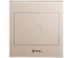 公牛G22触控屏遥控一位双控开关(G22K112A) 金