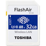 东芝FlashAir WIFI SDHC卡(W-04)(32GB) 闪存卡/东芝