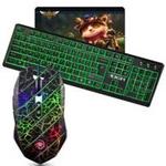 虎猫USB键鼠套装(X8白鼠标+新盟K31黑绿背光键盘) 键鼠套装/虎猫