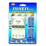瑞能RN-M4A标准充套装(配4节2700mAh 5号镍氢电池) 电池/瑞能