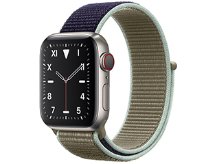 苹果 Watch Edition Series 5(GPS+蜂窝网络/钛金属表壳/回环式运动表带/40mm)
