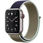 苹果Watch Edition Series 5(GPS+蜂窝网络/钛金属表壳/回环式运动表带/40mm) 智能手表/苹果