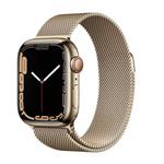 苹果Apple Watch Series 7 45mm(蜂窝版/不锈钢表壳/米兰尼斯表带) 智能手表/苹果